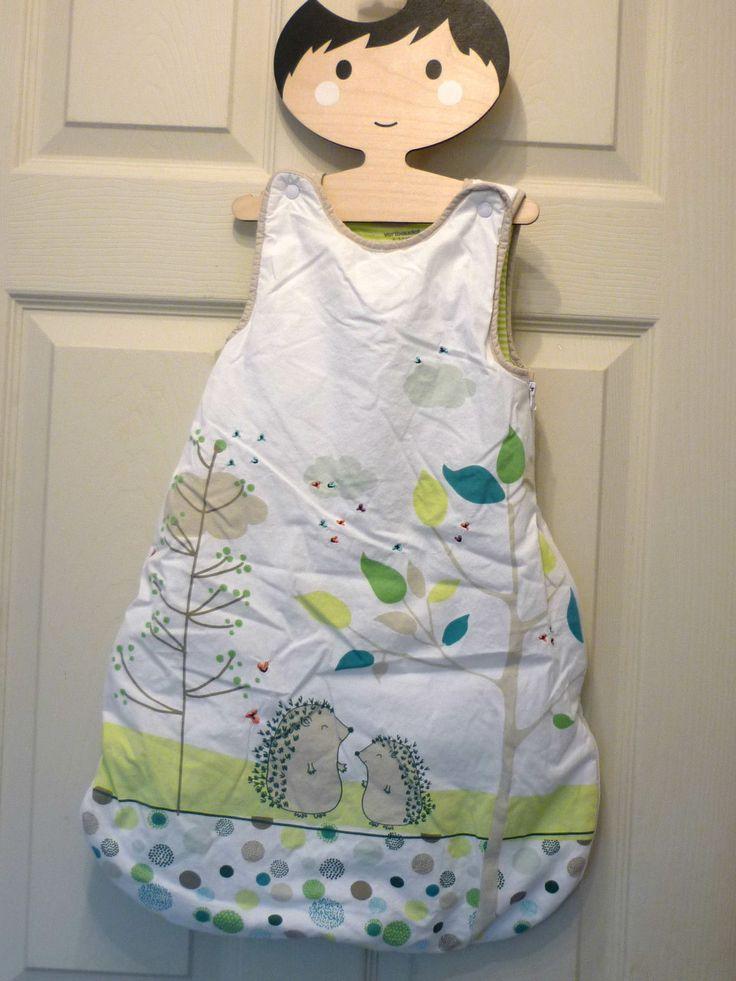 BABY BOY GIRL VERTABAUDET 0-6 M SLEEPING BAG WHITE WITH HEDGEHOG, GREEN in Baby, Nursery Bedding, Sleeping Bags & Sleepsacks   eBay