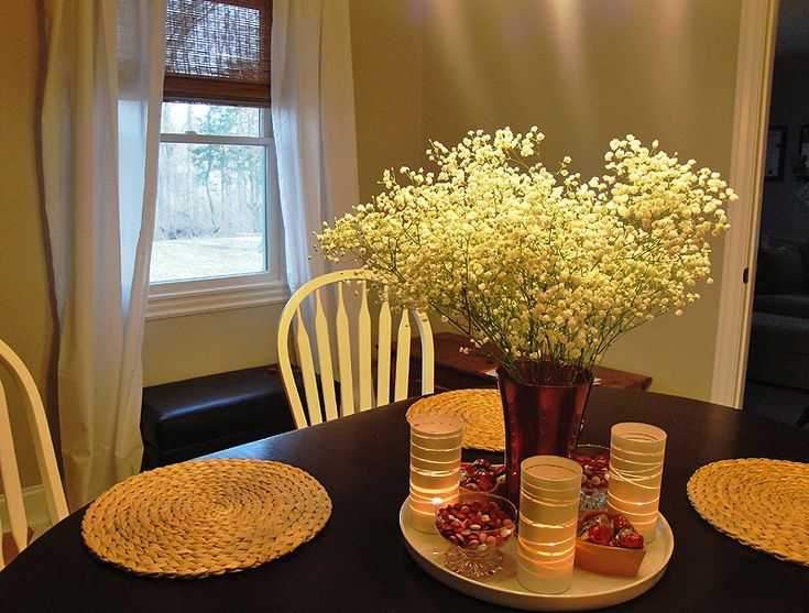 57 best images about dining room table centerpiece ideas for Candle dining room centerpieces