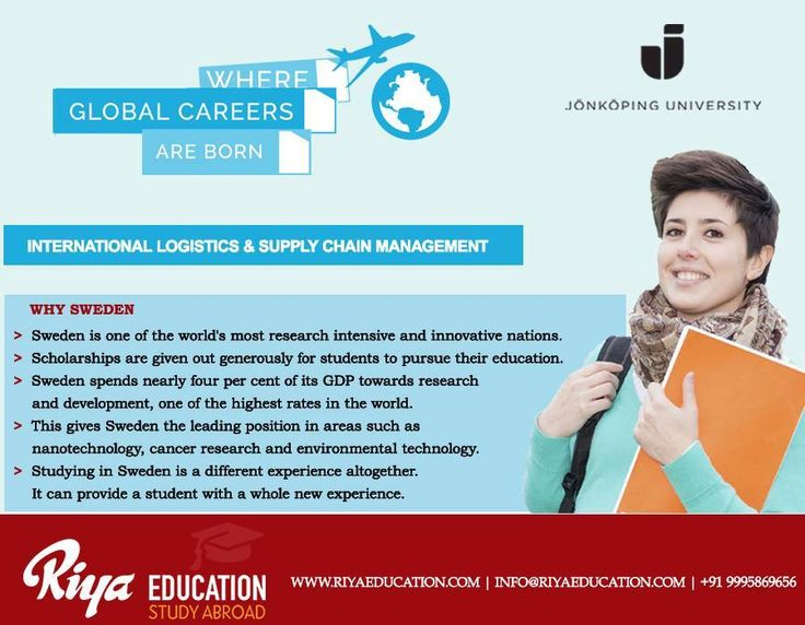 Study International Logistics and Supply Chain Management in Sweden !!! Get in touch with Riya Education. Visit our nearest office http://www.riyaeducation.com/contact/