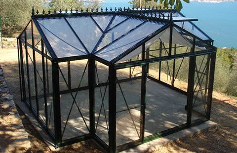 "CLICK HERE TO GET BETTER PRICING AND PERSONALIZED OPTIONS The Victorian Greenhouse is one of the premier greenhouses in the ""Helios"" line of greenhouses from Janssens of Belgium. This company has been"