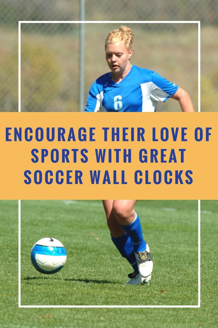 Soccer Fans Young And Old Will Enjoy These Soccer Wall Clocks Is Your Child On The Soccer Team They Ll Get A Ki Cool Gifts For Kids Wall Clock Sports Gifts
