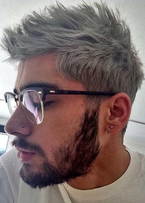 Kurze graue haare farben manner