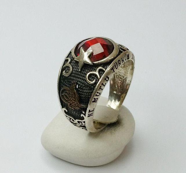 Granat-Ring+ne+mutlu+türküm+diyene+925+SR129+von+Atelier+Regina++auf+DaWanda.com