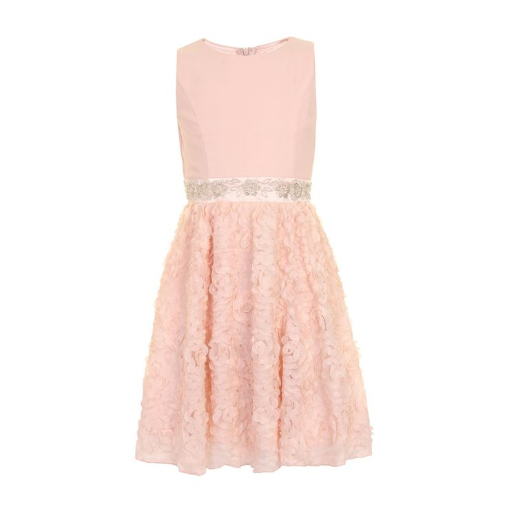 Little Misdress Pink embellished lace party dress- at Debenhams.com