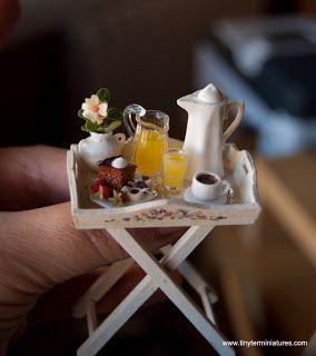 Tiny Tea tray Miniature