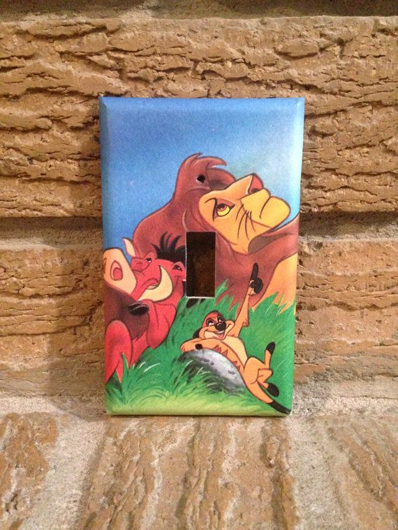 Simba Timon and Pumbaa Light Switch Cover Lion King Lion