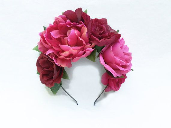 Frida Kahlo Pink on Pink Flower Headband por BloomDesignStudio