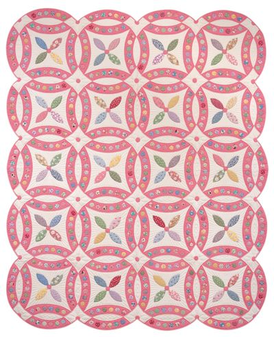 Jeweled Wedding Ring pattern by Karen Earlywine and Kay Connor, from: Link to the 30's: Making the Quilts we Didn't Inherit (Martingale)