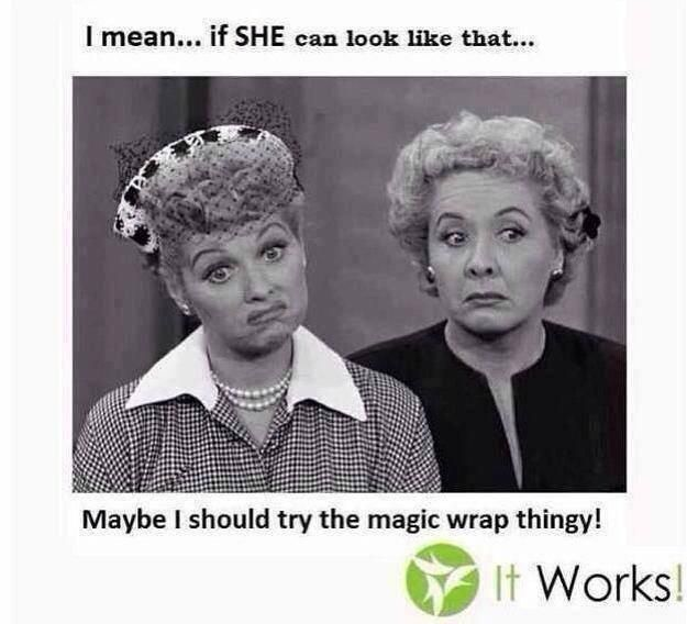 Lucy and Ethel - LOL --- Maybe You should try that CrAZy Wrap Thing!! It Works Global   www.AZWrapUSkinny.com