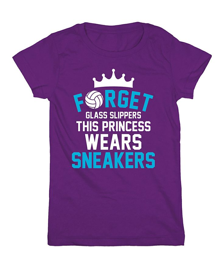 Purple 'Forget Glass Slippers' Tee- Disney inspired volleyball shirt.