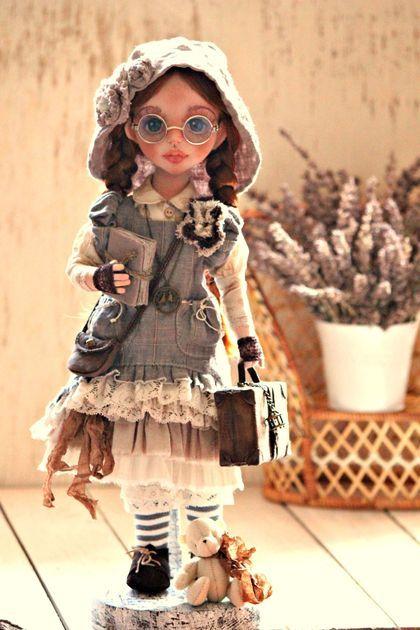 Betsy - коричневый,бохо-стиль,девочка в бохо,интерьерная кукла,авторская ручная работа