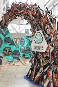 Recycled ski arch