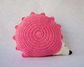 adorable hedgehog pillow, lots of cute patterns