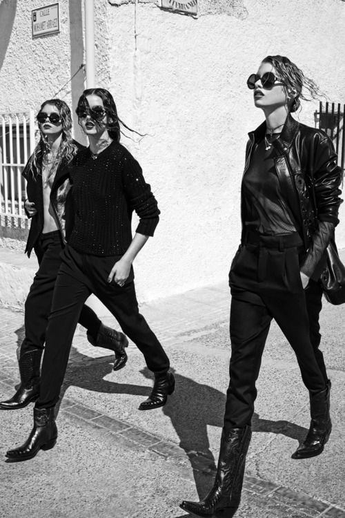 "Stella Maxwell, Gabby Westbrook-Patrick & Morgane Warnier in ""Cosa de Hombres"" for Vogue Spain, August 2014. Photographed by: Mariano Vivanco"