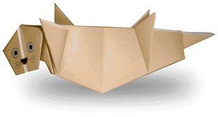 Origami Sea Otter