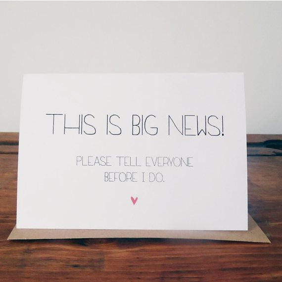 Engagement Announcement Card   we ❤ this!  moncheribridals.com   #engagement
