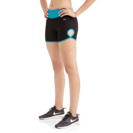 N.Y.L. Sport Women's Performance Bike Shorts With Contrast Trim, Size: Medium, Blue