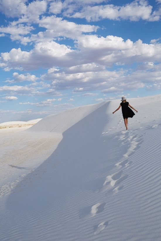 White Sands Desert Dunes in New Mexico #travel #vacation #holiday