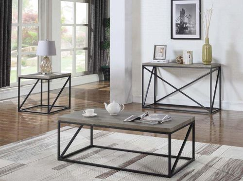 3 PC Sonoma Grey Coffee Table End Table \u0026 Sofa Table Set 705618 & 97 best Coffee Table Sets images on Pinterest | Coffee table sets ...