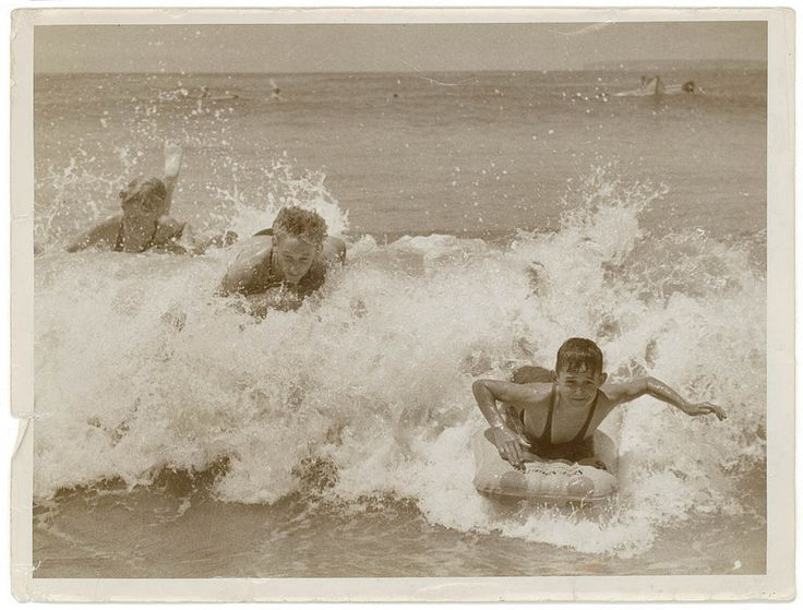 Christopher giggled with the secret knowledge he'd stuck a pin in each of his friend's air beds. | 23 Vintage Photos Of Australians At The Beach That Show Some Things Never Change