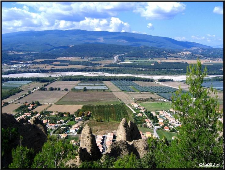 Panoramic view near the village Les Mées