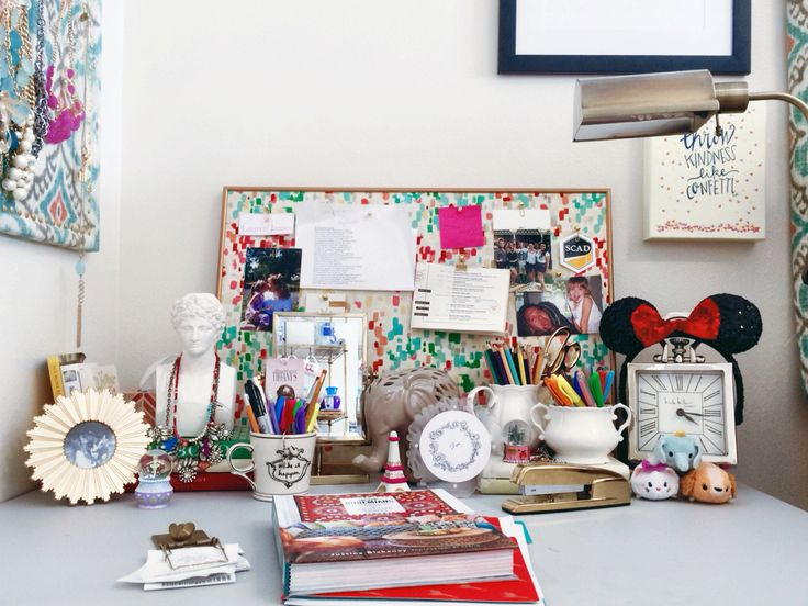 My Boho Chic Anthropologie Inspired Dorm Room At SCAD  Desk Styling Part 48
