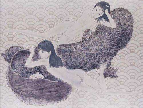 会田誠_大山椒魚 Makoto Aida. Japanese Artist.