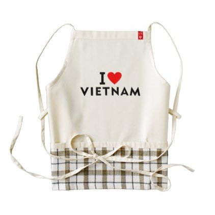 I love Vietnam country like heart travel tourism Zazzle HEART Apron - love gifts cyo personalize diy