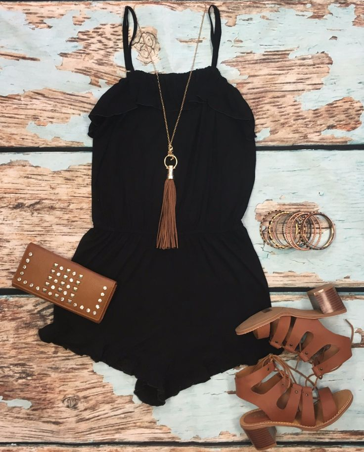Call Me Maybe Romper: Black from privityboutique