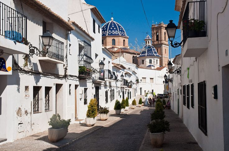 Altea, old town -  On the Costa Blanca, Spain.