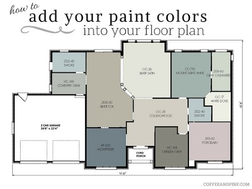 Coffee and Pine: Floor Plan Color Scheme