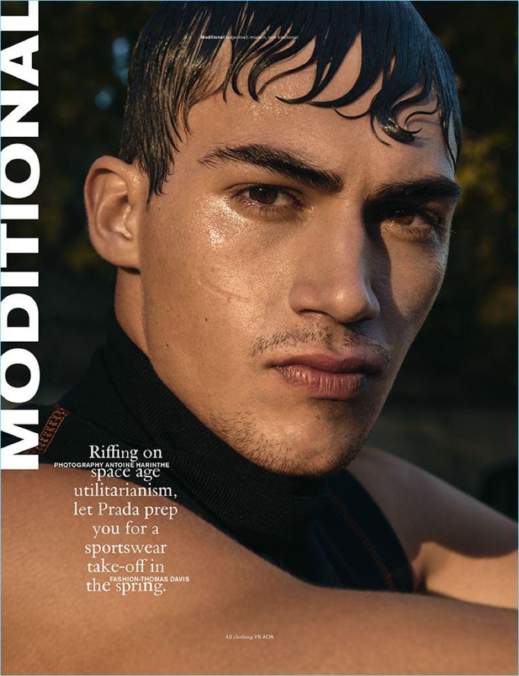 Antoine Harinthe photographs Alessio Pozzi in Prada for Wonderland magazine.