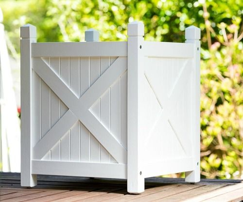 Planter Boxes White, a perfect compliment to our Hamptons Bench & our Adirondack chairs.