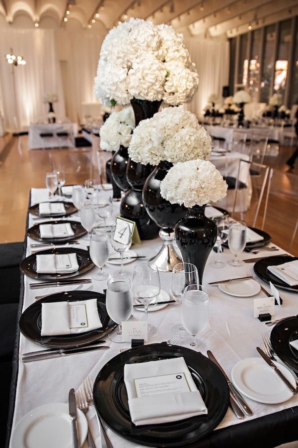 Modern Black and White Museum Wedding 68