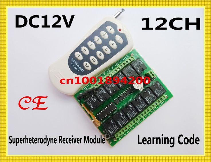 $20.00 (Buy here: https://alitems.com/g/1e8d114494ebda23ff8b16525dc3e8/?i=5&ulp=https%3A%2F%2Fwww.aliexpress.com%2Fitem%2FCE-DC12V-12CH-Remote-Control-Switch-Receiver-Transmitter-315-433MHZ-Superheterodyne-Receiver-Learning-Code-4-Kind%2F1113700743.html ) CE  DC12V 12CH Remote Control Switch Receiver Transmitter 315/433MHZ Superheterodyne Receiver Learning Code 4 Kind Output Adjust for just $20.00