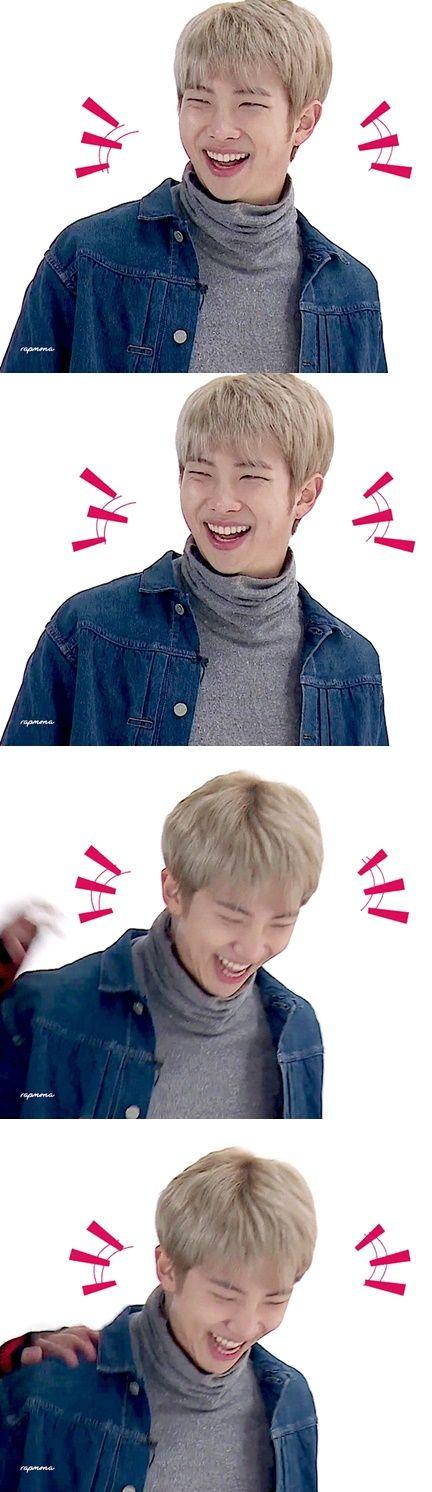 Yo: Suki / Namjoon: *Se ríe hasta casi ahogarse con su propia saliva* / Yo: Creo que ahora todo el fandom y los chicos me odian porque por accidente pude matar a Namjoon :|