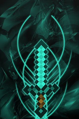 Minecraft wallpaper, Diamond Sword Minecraft wallpaper