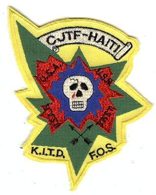 3rd Special Forces Group Pocket Patches Combined Joint Task Force Haiti