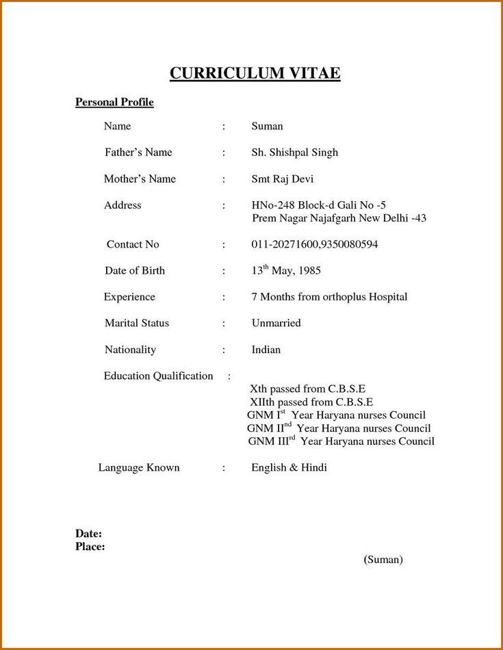 simple resume format  creativeresumeideas