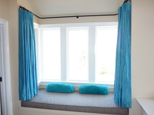 modern bay window and curtain - Bay Windows Design