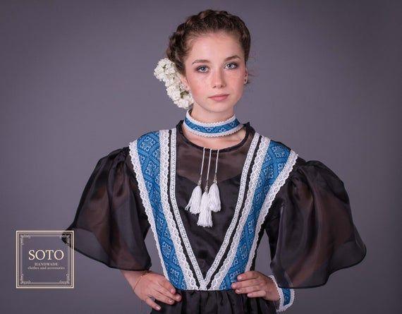 "Ukrainian dress /""Gala/"" black"