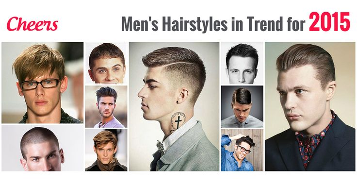 #Men's #hairstyles for #2015  1. Summer bounce 2. Slicked back 3. Side sweep 4. The side part 5. Angular fringe 6. Long on top short on sides fringe 7. Side part pompadour 8. Disconnected haircut 9. Caesar haircut 10. Shaved head  #MensCut #CheersSalon