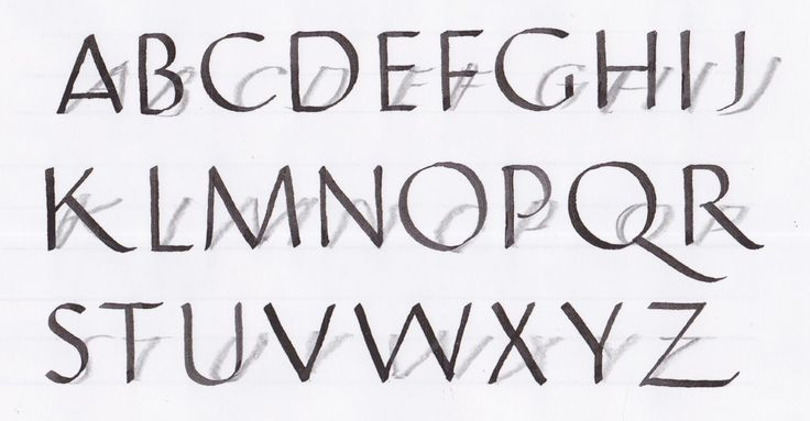 the romans in bubble writing alphabet