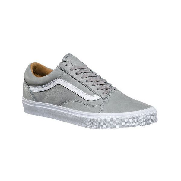 Vans Premium Leather Old Skool (£54) ❤ liked on Polyvore featuring shoes,