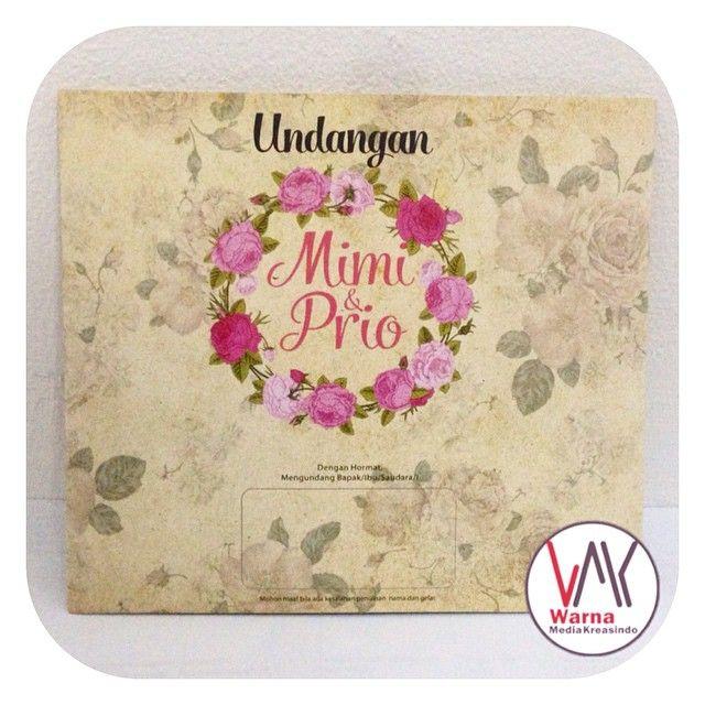 Undangan nikah bunga vintage dengan tali rami - whatsapp: 081286403244 website: www.warnamediakreasindo.wordpress.com #undangan #pernikahan #wedding #invitation #vintage #retro #softcover #cantik #simple