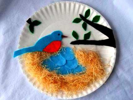 Поделка гнездо - Сайт для мам малышей