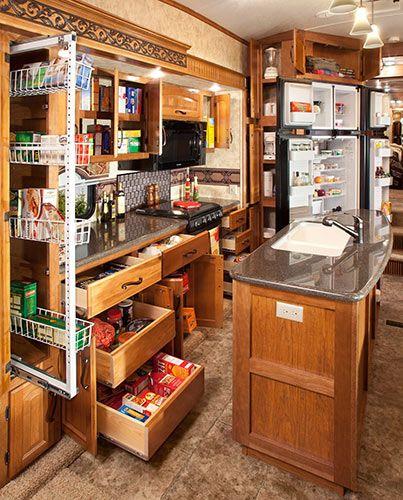 Keystone RV image of Montana-3582RL-Kitchen-Storag
