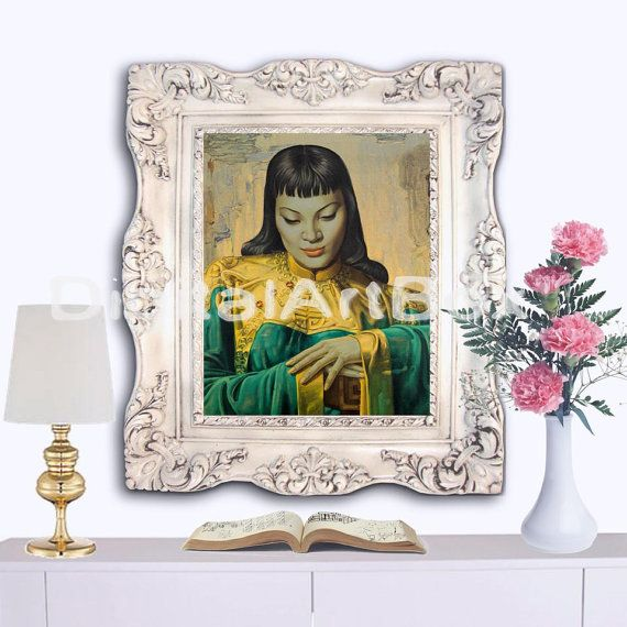 JH Lynch Chinese Girl Portrait8x10 Vintage by DigitalArtBox