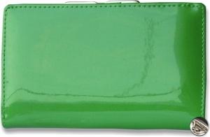 Lakovaná dámska peňaženka s klipom, zelená