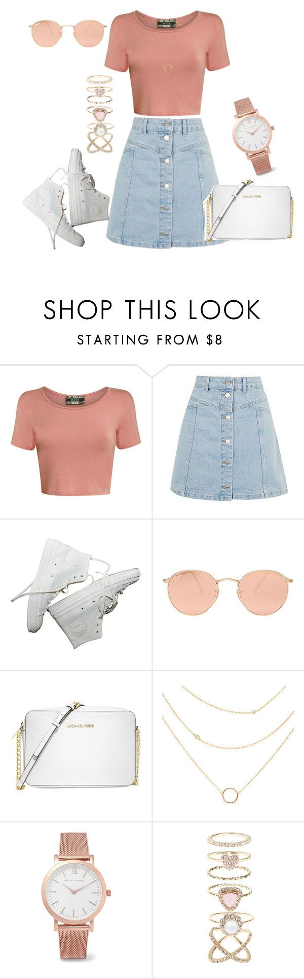 """""""Untitled #316"""" by charlotte-down on Polyvore featuring Pilot, Topshop, Ray-Ban, Michael Kors, Larsson & Jennings and Accessorize"""